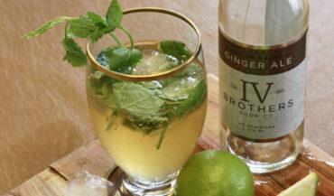 Gin og Ginger Ale med frisk mynte
